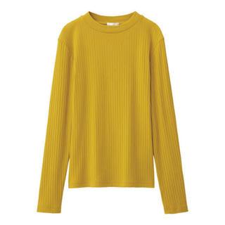ジーユー(GU)のリブハイネックTシャツ(Tシャツ(長袖/七分))