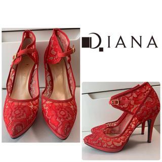 DIANA - ダイアナ レッドレースパンプス