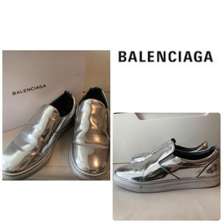 Balenciaga - BALENCIAGA ミラーレザー  スニーカー