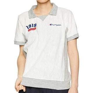 チャンピオン(Champion)のチャンピオン ポロシャツ レディース Mサイズ ホワイト ゴルフウェア(ポロシャツ)