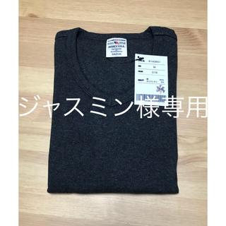 アヴィレックス(AVIREX)のAVIREX アビレックス VネックTシャツ チャコール Mサイズ(Tシャツ/カットソー(半袖/袖なし))