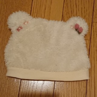 スーリー(Souris)のスーリー クマ耳帽子(ホワイト)(帽子)