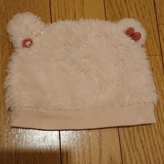 スーリー(Souris)のスーリー クマ耳帽子(ピンク)(帽子)