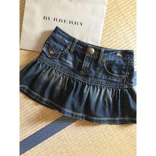バーバリーブルーレーベル(BURBERRY BLUE LABEL)のバーバリー  ブルーレーベル デニムスカート(ミニスカート)