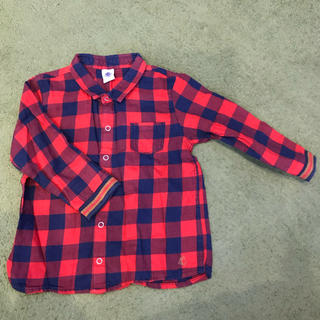 PETIT BATEAU - プチバトー♡チェックシャツ 86cm