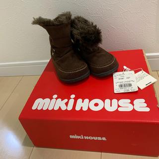 ミキハウス(mikihouse)のミキハウス ムートンブーツ ブラウン 13cm(ブーツ)