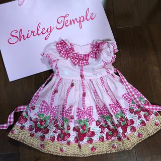 Shirley Temple - 10.シャーリーテンプル shirley templeいちごバスケットワンピース