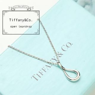 Tiffany & Co. - 新品仕上げ TIFFANY ティファニー オープン ティアドロップ ネックレス