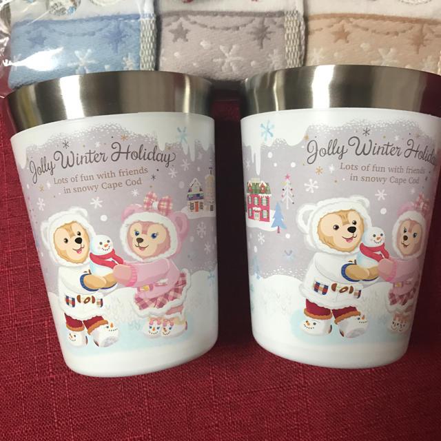 ダッフィー(ダッフィー)の新品 ウィンターホリデー タンブラー ダッフィー スーベニアタンブラー 正規品 エンタメ/ホビーのおもちゃ/ぬいぐるみ(キャラクターグッズ)の商品写真