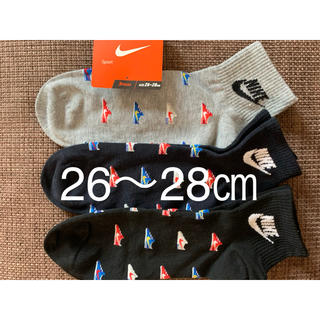 NIKE - 新品 ナイキ  靴下 26〜28cm 3足セット