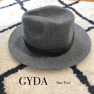 ジェイダ(GYDA)のGYDA ジェイダ つば広ハット 帽子 串戸ユリア【新品未使用】(ハット)