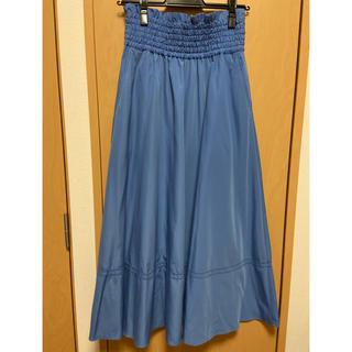 ミラオーウェン(Mila Owen)のゴムシャーリングハシゴ刺繍スカート(ロングスカート)