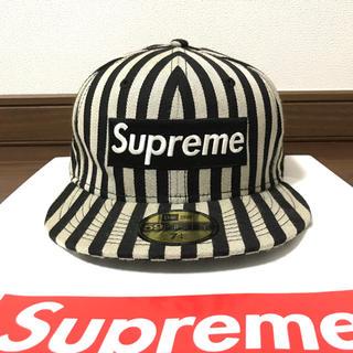 Supreme - Supreme 13fw Striped Box Logo New Era