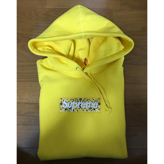 シュプリーム(Supreme)のSupreme Bandana Box Logo Hooded パーカー 黄色(パーカー)