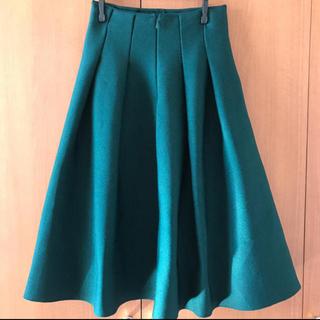 ルシェルブルー(LE CIEL BLEU)のルシェルブルータックニットフレアスカート(ひざ丈スカート)