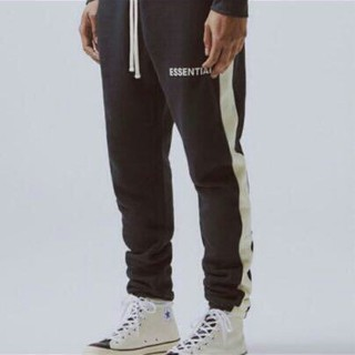 FEAR OF GOD - 人気 FOG essentials  sweatpants ストライプ パンツ