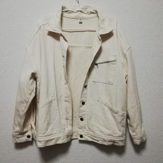 オーバーサイズ 白 Gジャン(Gジャン/デニムジャケット)