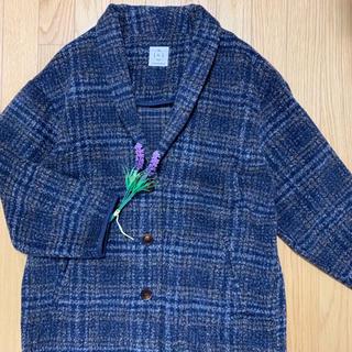 サマンサモスモス(SM2)のsm2 ♡ チェックのコート ネイビー系×ブラウン(ロングコート)