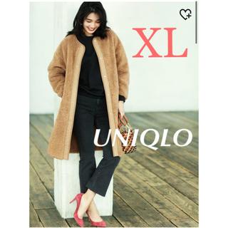 UNIQLO - 新品タグ付き ユニクロ ボアフリースノーカラーコート UNIQLO  XLサイズ