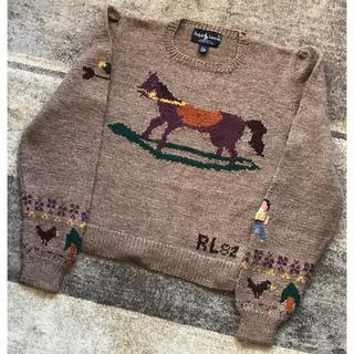 ラルフローレン(Ralph Lauren)の幻 イギリス製 RL'82 82年製 ラルフローレン 木馬柄 ニット セーター(ニット/セーター)