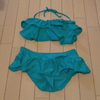 ディーホリック(dholic)の水着 スイムウェア ビキニ フリル リボン ブルー(水着)