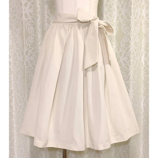 JILLSTUART - ジルスチュアート オフホワイトリボンスカート