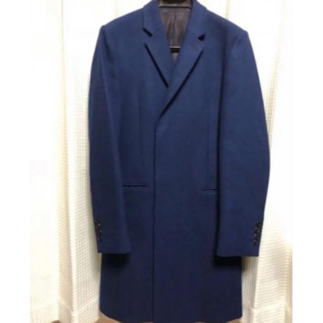 LAD MUSICIAN(ラッドミュージシャン)の着用二回のみ ラッドミュージシャン  ミドルメルトンチェスターコート 42 メンズのジャケット/アウター(チェスターコート)の商品写真