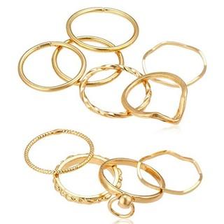 ウィゴー(WEGO)の⒉ WEGO ウィゴー リング 指輪 10点セット ゴールド 新品(リング(指輪))