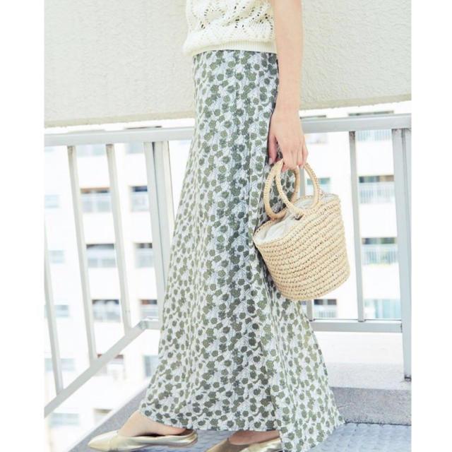Ungrid(アングリッド)のタグ付き未使用 フラワーフィットマキシスカート レディースのスカート(ロングスカート)の商品写真