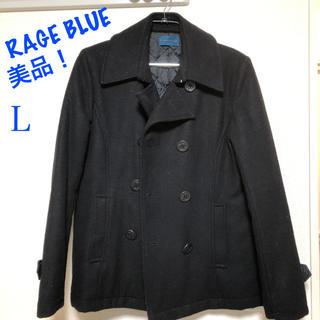 レイジブルー(RAGEBLUE)の美品! RAGE BLUE Pコート 黒(ピーコート)