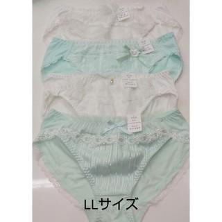 ☆ホワイト系×グリーン系☆ フリフリショーツ 4枚セット(ショーツ)