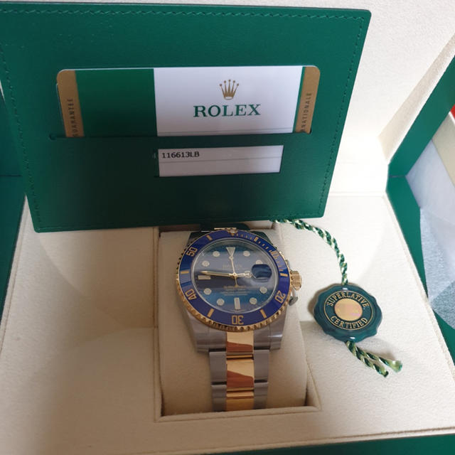 ロレックス �物 自動巻 | ROLEX - rolex submariner 116613lb�通販 by seungkun's shop