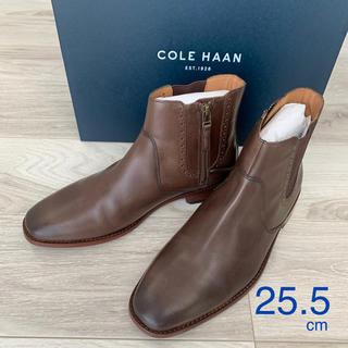 コールハーン(Cole Haan)の新品 25.5cm COLE HAAN コールハーン サイド ジップ ブーツ(ブーツ)