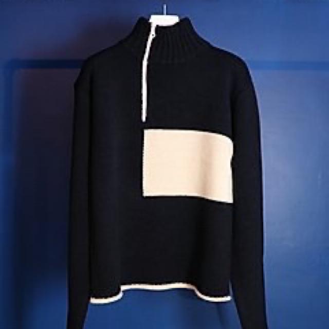 SUNSEA(サンシー)のkudos white square pullover knit ニット メンズのトップス(ニット/セーター)の商品写真
