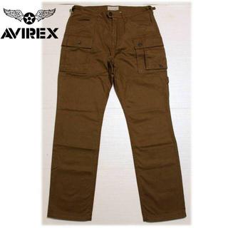 アヴィレックス(AVIREX)の《アヴィレックス》新品 ハイポジカーゴパンツ 茶 XL(W89)サイズ(ワークパンツ/カーゴパンツ)