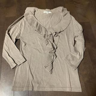23区 - 23区 7部袖胸元首回りゴージャス ニット