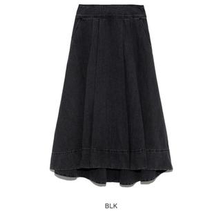 ミラオーウェン(Mila Owen)のロングテールデニムフレアスカート(ロングスカート)