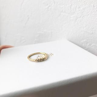 アーカー(AHKAH)の美品!半額以外!AHKAHK アーカー K18YG ダイヤモンド ピンキーリング(リング(指輪))