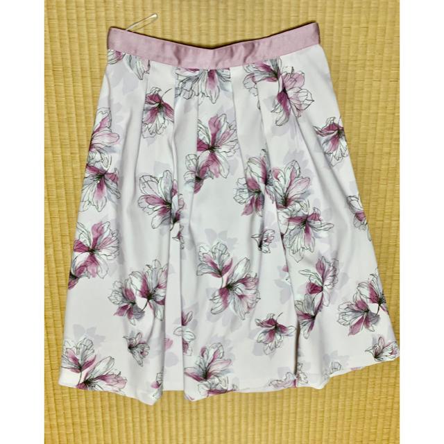 Apuweiser-riche(アプワイザーリッシェ)のAutumnニュアンスフラワースカート レディースのスカート(ひざ丈スカート)の商品写真