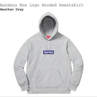 Supreme - supreme Bandana box logo パーカー grey L