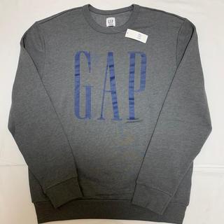 ギャップ(GAP)の新品 ギャップ 裏起毛 ロゴ入り トレーナー  XL メンズ スウェット 長袖(パーカー)