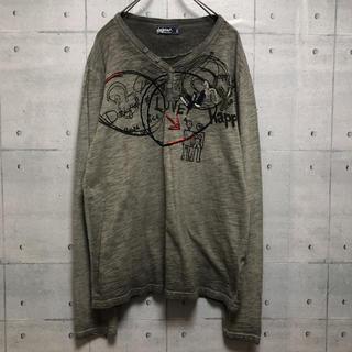 デシグアル(DESIGUAL)のデシグアル グレー ロンT カットソー(Tシャツ/カットソー(七分/長袖))