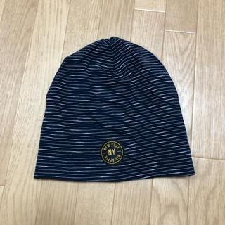 エイチアンドエム(H&M)のH&M 51-53cm ボーダー帽子 4y〜(帽子)