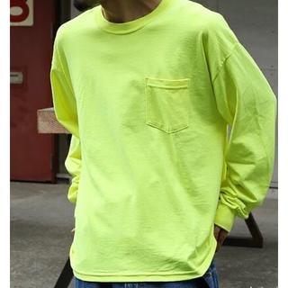 【新品】 GILDAN 6oz 無地長袖ロンT ポケット付き(Tシャツ/カットソー(七分/長袖))