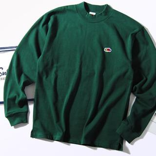 ロンハーマン(Ron Herman)のFruit of the loom モックネック ロンT グリーンL Tシャツ(Tシャツ/カットソー(七分/長袖))
