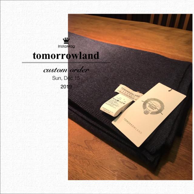 TOMORROWLAND(トゥモローランド)のトゥモローランド カシミヤニットマフラー カスタムオーダー2018 レディースのファッション小物(マフラー/ショール)の商品写真