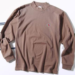 ロンハーマン(Ron Herman)のFruit of the loom モックネック ロンT モカL Tシャツ(Tシャツ/カットソー(七分/長袖))