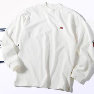 ロンハーマン(Ron Herman)のFruit of the loom モックネック ロンT Tシャツ 白M(Tシャツ/カットソー(七分/長袖))