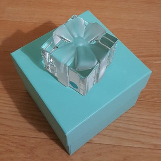 Tiffany & Co. - ティファニークリスタルボウボックス☆ペーパーウェイト☆Tiffany小物ボックス