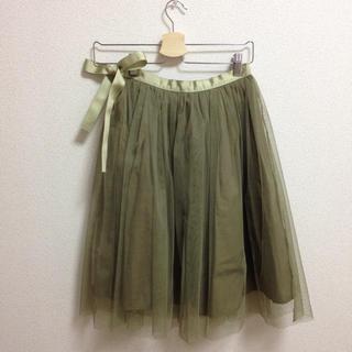 デイシー(deicy)のdeicy リボンチュールスカート(ひざ丈スカート)